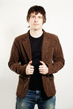 Handsome Man in Corduroy Coat Royalty Free Stock Photography