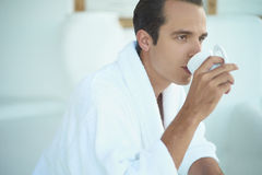 Handsome man with cup of coffee Royalty Free Stock Image