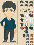 Handsome Man Customizable Character Stock Photo