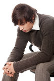 Handsome man in depression Stock Photography