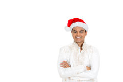 Handsome man in dhoti and xmas hat Royalty Free Stock Photography