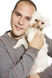 Handsome man with dog Royalty Free Stock Photos