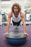 Handsome man doing crossfit fitness workout in gym Royalty Free Stock Photos