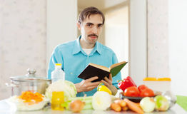 Handsome  man doing lunch Royalty Free Stock Image