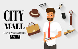 Handsome man doing online shopping Royalty Free Stock Image