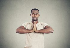 Handsome man doing yoga Stock Image