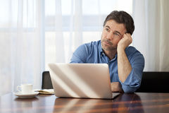 Handsome Man Dreaming At Home. Royalty Free Stock Photo