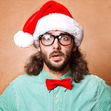 Handsome man dressed as Santa Claus Royalty Free Stock Photography
