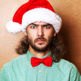 Handsome man dressed as Santa Claus Royalty Free Stock Image