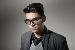 Handsome man dressed casual wearing glasses Stock Photography