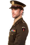 Handsome man dressed in world war II uniform Stock Images