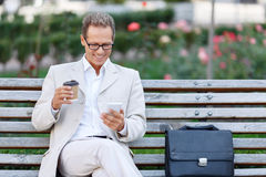 Handsome man drinking coffee Royalty Free Stock Photo