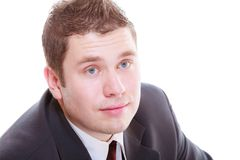 Handsome man in elegant suit royalty free stock images