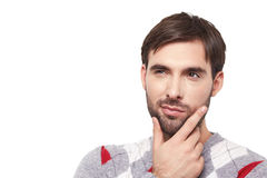 Handsome man emotion Stock Images