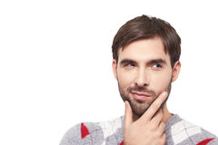 Handsome man emotion Royalty Free Stock Photos