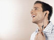 Handsome Man Enjoying Music Stock Photos