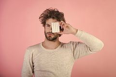 Free Handsome Man Face. Health And Medicine, Hangover. Mens Heals Care. Stock Image - 117264431