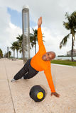 Handsome man fitness training Royalty Free Stock Photo