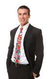 Handsome Man with Flag Tie Stock Image