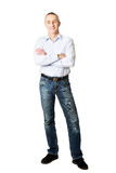 Handsome man with folded arms. Handsome mature man with folded arms Stock Image