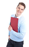 Handsome man with folder Stock Photos