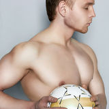 Handsome man.footboll Royalty Free Stock Photo