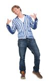 Handsome Man Gesturing Royalty Free Stock Photos