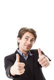Handsome man giving a thumbs up Royalty Free Stock Photo