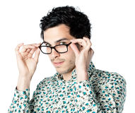 Handsome man with glasses Royalty Free Stock Images