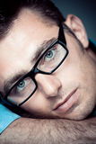 Handsome man with glasses Stock Photo