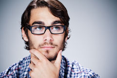 Handsome man with glasses Royalty Free Stock Photos