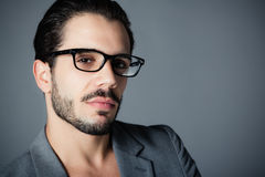 Handsome man with glasses Royalty Free Stock Image
