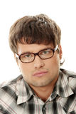 Handsome man in glasses Stock Photos