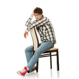 Handsome man in glasses Stock Photography