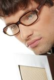 Handsome man in glasses Stock Image