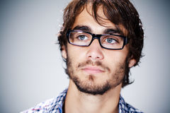 Handsome man with glasses Royalty Free Stock Photography