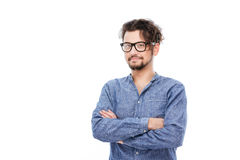 Handsome man in glasses Royalty Free Stock Photos