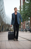 Handsome Man on the Go Stock Photography