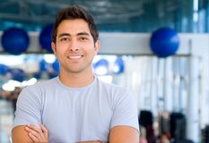 Handsome man at the gym Stock Images