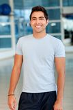 Handsome man at the gym Stock Image