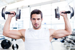 Handsome man at the gym Royalty Free Stock Photos
