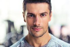 Handsome man at gym Stock Photography