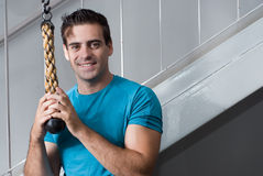 Handsome Man in Gym - Horizontal Stock Photos