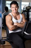 Handsome man in gym room Royalty Free Stock Images