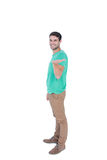 Handsome man with hand stretch Stock Photos