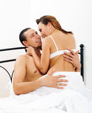 Handsome man having sex with woman Royalty Free Stock Photography