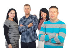Handsome man and his group of friends stock photo