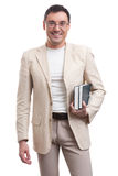 Handsome man holding books Royalty Free Stock Image