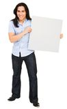 Handsome man holding placard Stock Image