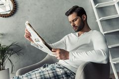 Handsome man at home Royalty Free Stock Photos